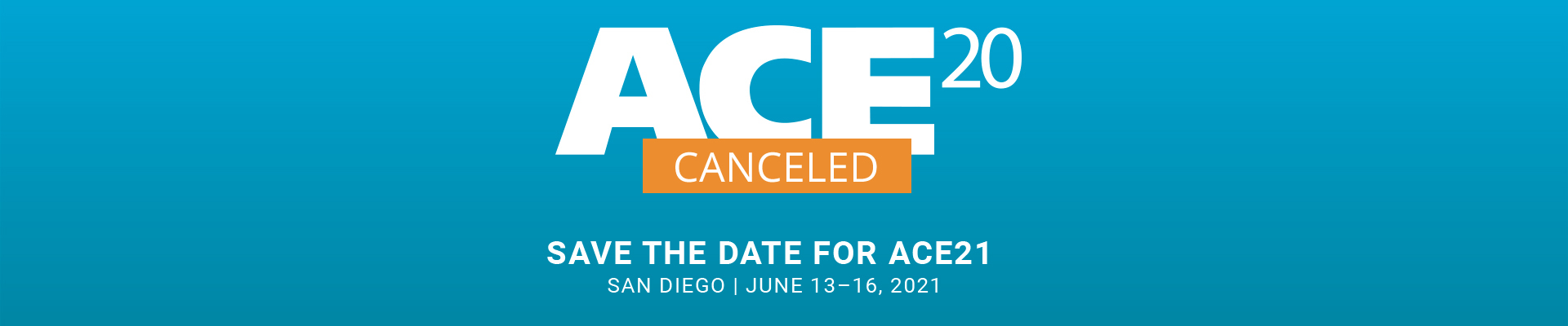 AWWA ACE20 Cancelled